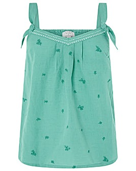 Monsoon Max Linen Embroidered Cami