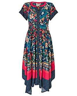Monsoon Luciano Print Midi Dress