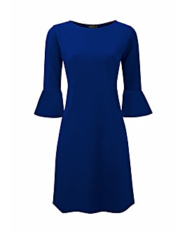 Grace dress with frill cuff detail
