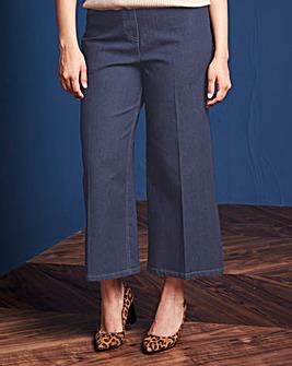Simply Be Wide-Leg Crop Jean Reg Length
