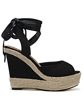 b35204d504884 DF By Daniel Ribbie Wedge Espadrilles