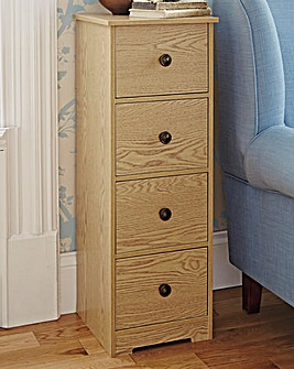 Slim Chest of Drawers Oak Finish