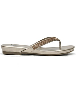 DF By Daniel Lilow Diamante Flip Flops