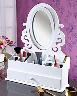Cosmetic Caddy With Mirror
