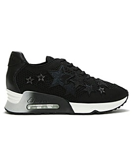 Ash Lucky Star Leather & Woven Trainers