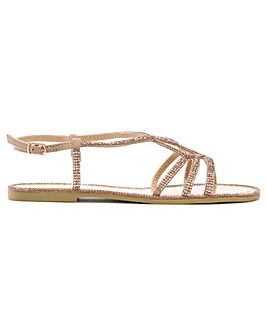 DF By Daniel Kloss Twist Strap Sandals