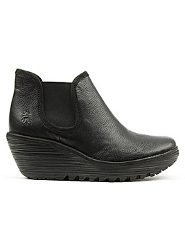 Fly London Yat Mid Wedge Chelsea Boots