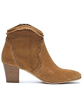 Daniel Lesma Suede Western Ankle Boots