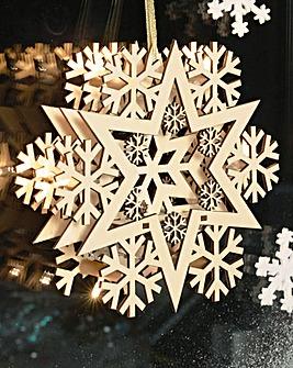 Snowflake LED Decoration Set of 2