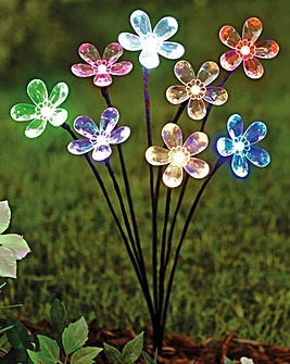 Solar Light Staked Flower Spray