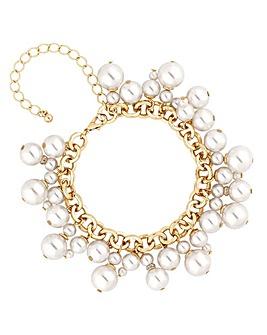 Mood Pearl Cluster Charm Bracelet