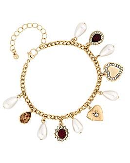 Mood Red Crystal Charm Bracelet