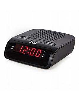 Akai AKAI AM/FM Alarm clock LED radio Bl