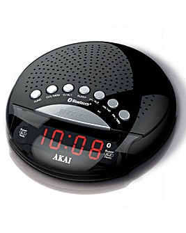 Akai Bluetooth Alarm Clock Radio