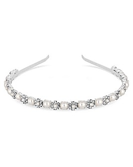 Jon Richard Crystal Flower Headband
