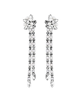 Jon Richard Pearl Cluster Drop Earring