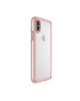 iPhone X Clear Rose Gold Case