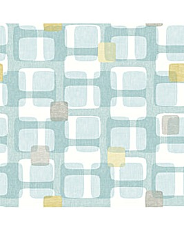 Arthouse Retro Block Wallpaper