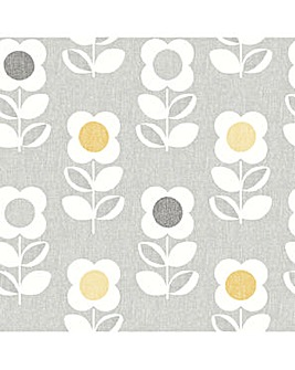 Arthouse Retro Floral Wallpaper