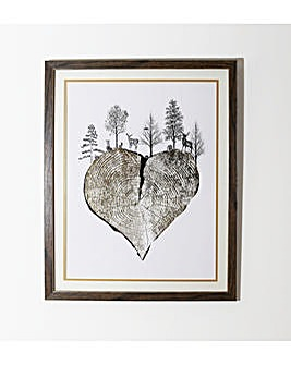 Arthouse Gold Heart Framed Print