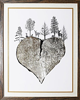 Arthouse Tree Trunk Heart Framed Print