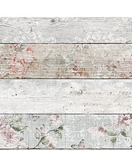 Distressed Wood Floral