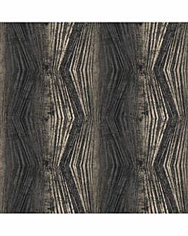 Charcoal Vermeil Stripe Wallpaper