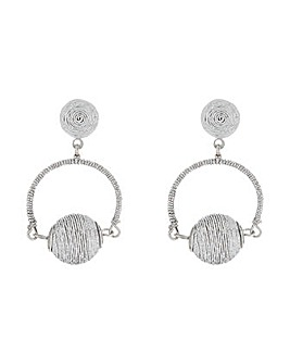 Accessorize Thread Wrapped Ball Earrings