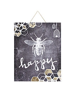 Bee Happy Wall Art