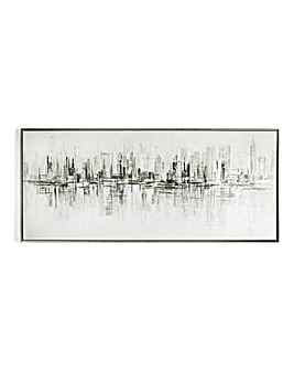 Art for the Home New York Reflections Handpainted Canvas