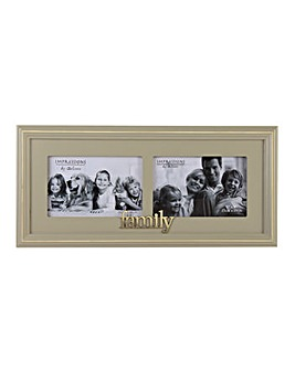 Wooden Double Family Photo Frame