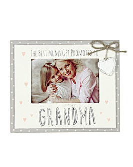Promoted to Grandma Photo Frame