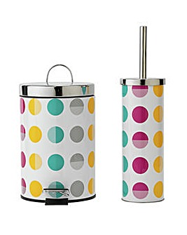 Slow Close Bin and Toilet Brush Set