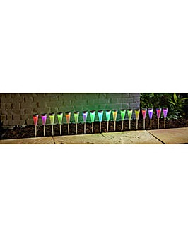 Set of 18 Solar Colour Changing Lights