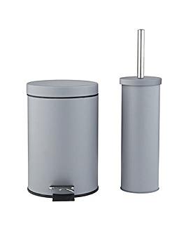 Slow Close Bin & Toilet Brush Set