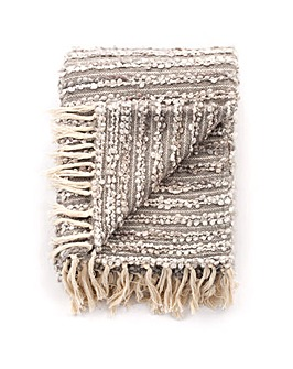 cascade home boucle hand woven throw