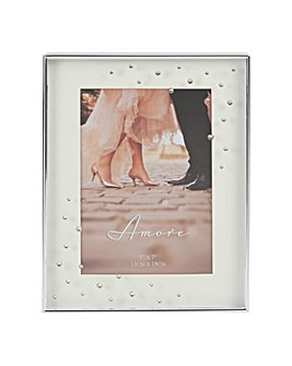 Silverplated Box Frame with Crystals