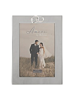 Silverplated Photo Frame with Rings Icon