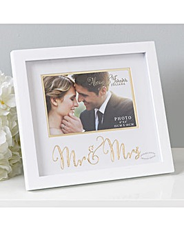Mr and Mrs Photo Frame