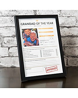 Grandad of the Year Frame