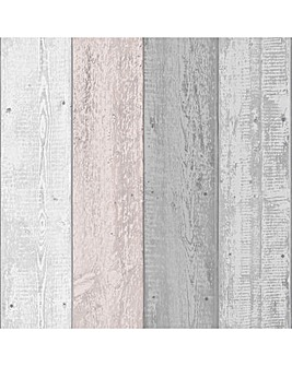 Arthouse Painted Wood Pink Grey