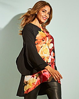 Joanna Hope Placement Print Blouse