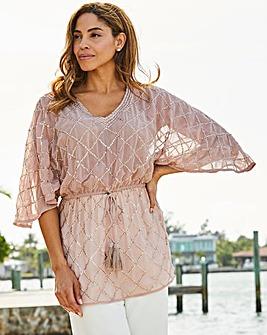 e56d383777433 Joanna Hope Sequin Kimono Top