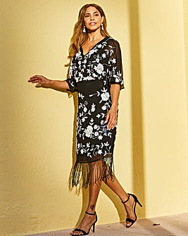 Joanna Hope Fringe Kimono Dress