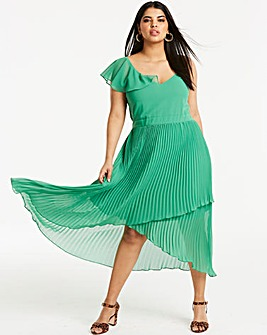 Joanna Hope Frill Pleat Maxi Dress