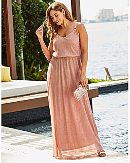 Joanna Hope Glitter Knit Maxi Dress