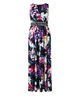 Joanna Hope Print Jewel Maxi Dress