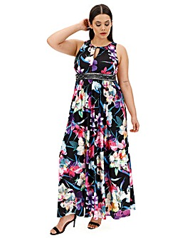 Joanna Hope Print Jewel Maxi Dress
