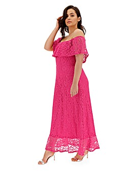 Joanna Hope Lace Bardot Maxi Dress
