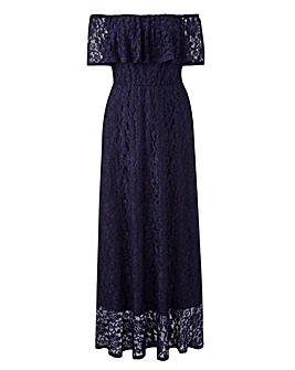 Joanna Hope Lace Bardot Maxi Dress